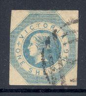 VICTORIA, 1854 1/- (pinhole) - 1850-1912 Victoria
