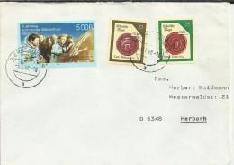 ALEMANIA DDR CC SELLO ESPACIO COLABORACION CON LA URSS - Cartas