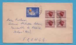 AFRIQUE DU SUD PETITE ENVELOPPE DE HILLARY DURBAN POUR TOULON VAR - Afrique Du Sud (1961-...)