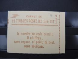 FRANCE - Carnet N° Yvert 2102 C7 Type Sabine 1f.40 Rouge - Daté Du  9/8/80 - Luxe - à Voir - Lot P8863 - Carnets