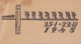 Pologne 1945. Camp De Woldenberg. Essai D´oblitération 25 I - 22 III. Exposition Préparée ? Le 25 Janvier, évacuation - 1939-44: 2. WK