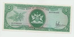 TRINIDAD & TOBAGO 5 DOLLARS 1964 (1977) VF+ Pick 31a  31 A - Trinidad & Tobago