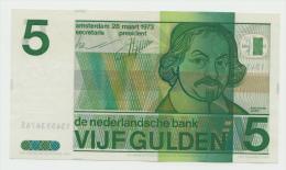 Netherlands 5 Gulden 1973 XF++ CRISP Pre-Euro Banknote P 95 - [2] 1815-… : Koninkrijk Der Verenigde Nederlanden