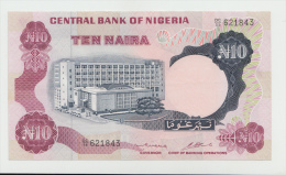 Nigeria 10 Naira 1973 - 1978 XF+ AUNC Pick 17b - Nigeria