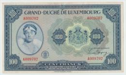 LUXEMBOURG 100 FRANCS 1944 VF+ PICK 47 - Luxemburgo