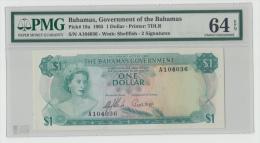 Bahamas 1 Dollar 1965 UNC PMG 64 Pick 18a  18 A - Bahamas