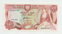Cyprus 50 Cents 1983 UNC NEUF Pick 49a - Chypre