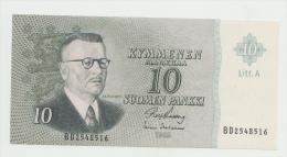 FINLAND 10 MARKKAA 1963 UNC NEUF Pick 104  Litt. A - Finland