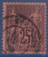 France N°91 - Oblitéré - TB - 1876-1878 Sage (Type I)