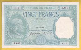 BILLET FRANCAIS - 20 Francs Bayard 25.8.1916 SUP - 1871-1952 Circulated During XXth