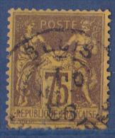 France N°99 - Oblitéré - TB - 1876-1878 Sage (Type I)