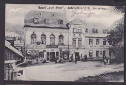 """Isergebirge Unter-Maxdorf Hotel """"zur Post"""" Herberge  Wilhelm Wondrak  Josefův Důl Josefodol, Josefsthal Bahnpost - Boehmen Und Maehren"""