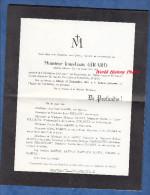 Faire Part De Décés De 1961 - PORT MARLY - Jean Louis GIRARD - Famille Foucault Duvat Rabeux Pauty Marty Chaussivert - Obituary Notices