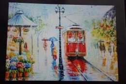 "Vlada Radovanova. ""Tram Mood"" -  Tramway  In Art    - Modern Ukrainian Decard Edition - 2014 - Tramways"