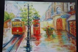 "Vlada Radovanova. ""Theater Evening In Paris"" -  Tramway  In Art    - Modern Ukrainian Decard Edition - 2014 - Tramways"