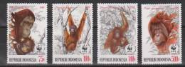 Indonesie Indonesia Nr.1366-1369 MNH; Apen, Monkeys, Affen, Singes, Monos, Monkey, Aap 1989 - Affen