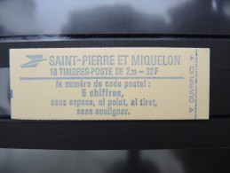 ST PIERRE ET MIQUELON - Carnet Au Type Liberté 2f20 Rouge Au Type 1 - Luxe - à Voir - Lot P8881 - Carnets