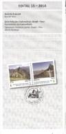 Brasilien 2014 Postankündigung Basilien - Peru Christus-Statue Rio De Janeiro + Machu Picchu - Covers & Documents