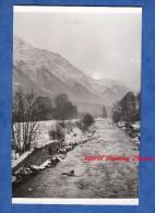 Photo Ancienne - CHAMONIX ( Haute Savoie ) - Coucher De Soleil Sur L'Arve - Noel 1956 - Places