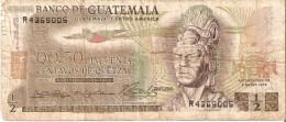 BILLETE DE GUATEMALA DE 1/2 QUETZAL DEL  2 ENERO 1974 (BANK NOTE) - Guatemala
