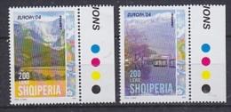 Europa Cept 2004 Albania 2v (traffic Lights In Margin) ** Mnh (23461B) - Europa-CEPT