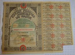 Credit Foncier Et Agricole Du Maroc, Part Bénéficiaire - Afrique
