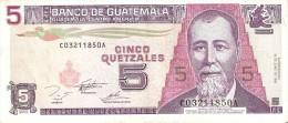 BILLETE DE GUATEMALA DE 5 QUETZALES DEL 16 JUNIO 1995 CALIDAD EBC (XF) (BANKNOTE) - Guatemala
