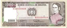BILLETE DE BOLIVIA DE 1000 PESOS BOLIVIANOS DEL AÑO 1982 (BANKNOTE) SIN CIRCULAR-UNCIRCULATED - Bolivia