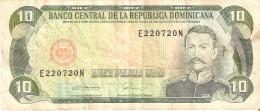 BILLETE DE REP. DOMINICANA DE 10 PESOS ORO DEL AÑO 1990  (BANKNOTE) - República Dominicana