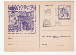 1981 AUSTRIA WIPA Special PHILATELIC EXHIBITION EVENT  POSTAL STATIONERY CARD Cover Stamps - Stamped Stationery
