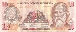 BILLETE DE HONDURAS DE 10 LEMPIRAS DEL AÑO 2010 (BANKNOTE) - Honduras