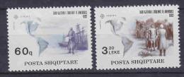 Europa Cept 1992 Albania 2v ** Mnh (23463A) - Europa-CEPT