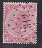 N° 20 - 40 Cts. - Obl. Lp. 312 ROCHEFORT- COBA +20 / TB. ZM. - 1865-1866 Linksprofil
