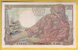 BILLET FRANCAIS - 20 Francs Pêcheur 17.5.1944 Presque Neuf - 1871-1952 Anciens Francs Circulés Au XXème