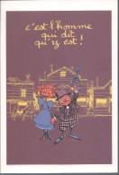 Carte Postale Emmanuelle Richard C'est L'homme Qui Dit Qu'y Est - Livres, BD, Revues