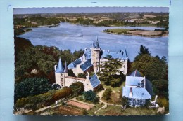 V08-29-finistere-bretagne-chateau De Henan- Donjon Hexagonal-beau Site Au Dessus De L'aven-- Veritable Photo--aerienne-- - France