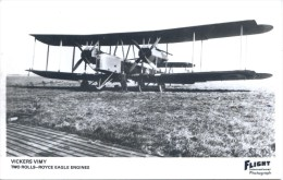 AVIATION - VICKERS VIMY RP - FLIGHT REPRO Ap58 - 1919-1938: Between Wars