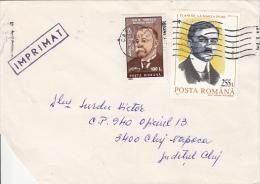 24942- LION IONESCU-MATHEMATICIAN, IULIU MANIU-GREAT UNION, STAMPS ON COVER, 1999, ROMANIA - 1948-.... Républiques