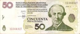 BILLETE DE ARGENTINA DE 50 PESOS DEL AÑO 2001 JUAN BAUTISTA ALBERDI (BANKNOTE) - Argentina