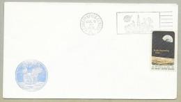 APOLLO  11 LAUNCH - OFFICIAL NASA-KSC CACHET  CACHET - LAUNCH DAY CANCEL - Briefe U. Dokumente
