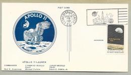 APOLLO  11 LUNAR LANDING CANCEL- OFFICIAL NASA-KSC VIP POST CARD - Briefe U. Dokumente
