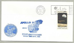 APOLLO  11 FIRST ANNIVERSARY With 2 NASA-KSC CACHETS Including The ORIGINAL APOLLO 11 CACHET - Briefe U. Dokumente