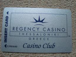 Greece REGENCY CASINO Thessaloniki player's card