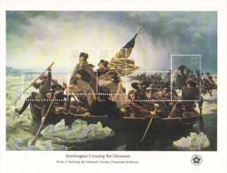 US  -  Washington Crossing The Delaware  -  Large 20 X 15 Cms 5v Sheet   -  MNH - George Washington
