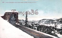 USA - Utah - Train Emerging From Snow Sheds, Ogden Route, S.P.R.R. - 2 SCANS - Ogden
