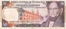 BILLETE DE VENEZUELA DE 50 BOLIVARES DEL AÑO 1974 (BANKNOTE) RARO - Venezuela