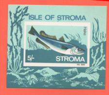 Stroma  Schotland    Hake  5 Pence 1969 - Etichette Di Fantasia