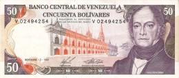 BILLETE DE VENEZUELA DE 50 BOLIVARES DEL AÑO 1988 CALIDAD EBC (XF)(BANKNOTE) - Venezuela