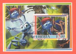 Liberia Zeta Ant  Del 2005 - Etichette Di Fantasia