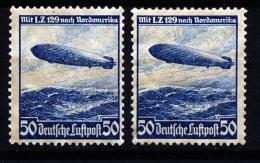 A3228) DR Zeppelin-Ausgabe 50 Pfg. Mi.606 2 X Mit Originalgummi **/* - Deutschland
